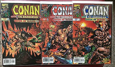 Conan The Barbarian River Of Blood #1-3 Nm Complete Set