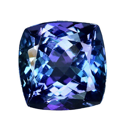 4.020 Cts Super Top Luster Blue Natural Tanzanite Cushion Loose Gemstones
