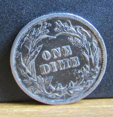 1902 Silver USA Barber One Dime Coin