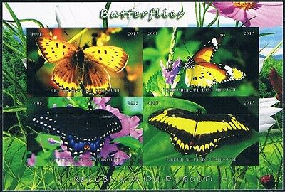 Bloc Sheet Papillons Butterflies IMP Neuf  MNH  ** Djibouti  2015 Private local