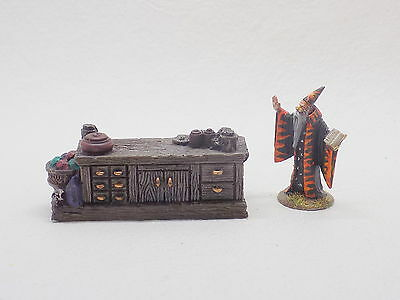D&D AD&D resin Dungeon Furniture WIZARD'S DESK Well Painted 41656
