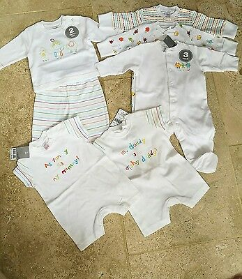 Next new animals 3 sleepsuits, top with jogger & 2 romper set size up to 1 month
