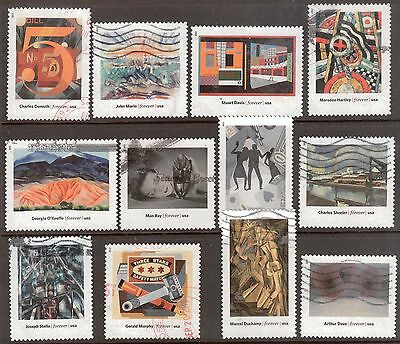 Scott #4748 a-l Set of 12, Modern Art In America (Off Paper)