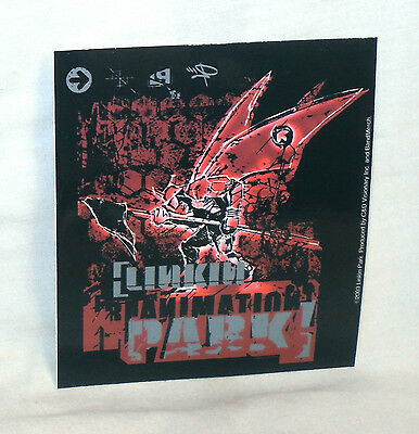 RARE Vinyl STICKER Decal LINKIN PARK Red Collage Soldier S2590 11.5cm x 10cm