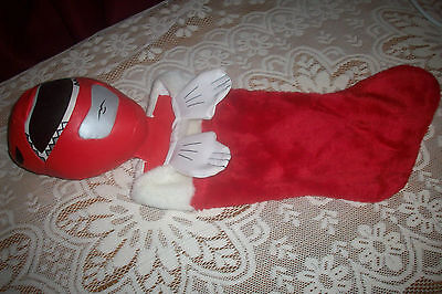 Vintage Mighty Morphin Power Rangers Christmas Stocking Red Ranger