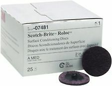 "3m 07481 2"" Medium Scotch Brite Roloc Surface Conditioning Discs"
