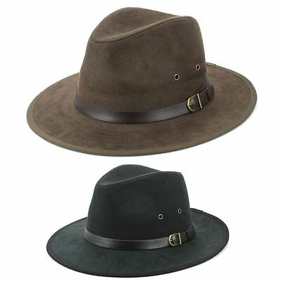 Fedora Hat BLACK BROWN Hawkins Trilby Panama Mens Ladies Travel Sun Summer