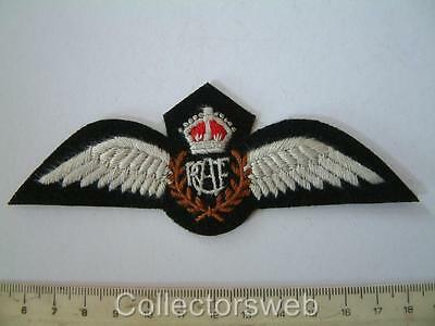 Ww2 Rcaf Royal Canadian Air Force Pilot Cloth Patch Badge Brevet Wings