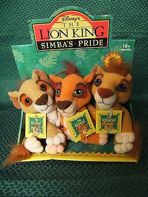 "THE LION KING ""Simbas Pride"" SOFT TOY SET 6"" approx beanie toys  still on packet"
