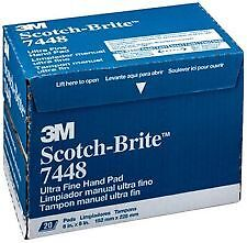 3M 7448/07448 Scotch-Brite Ultra Fine Grey Scuff Pads (20/bx)