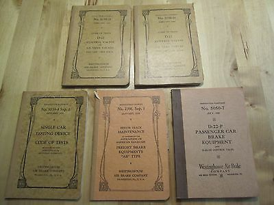5 Westinghouse air brake company instruction manuals, pamphlets 1950s train rail