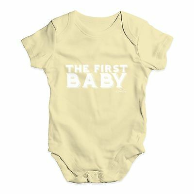 Twisted Envy The First Baby Baby Unisex Funny Baby Grow Bodysuit