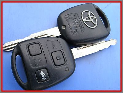 1 x GENUINE TOYOTA 3 BUTTON REMOTE KEY FOB for AVENSIS