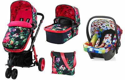 New Cosatto giggle 2 3 in 1 travel system in Tropico with pixelate car seat