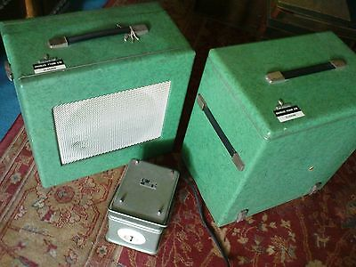 Vintage SIEMENS 16mm Projector with Extension Speaker/Cases/Transformer