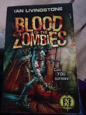 Blood of the Zombies Fighting Fantasy First Print Gamebook Ian Livingstone