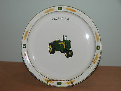 John Deere 730 Diesel Amber Fields Wheat Collector Dinner Plate 10 7/8 Gibson
