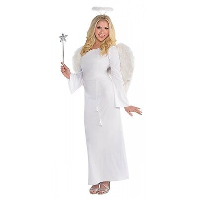 Angel Costume Adult Halloween Christmas Fancy Dress