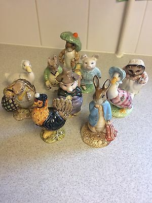 Rare Beswick Beatrix Potter Peter And The Red Pocket Handkerchief Gold Stamp & 9