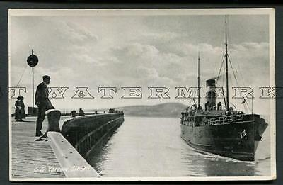 "C1910 Rppc Ss ""yarrow"" Arriving At Silloth -- Wm Sloan Glasgow"