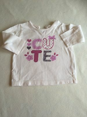 Baby Girls Clothes 0-3 Months -  Pretty T Shirt Top -We Combine Postage