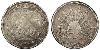 MEXICO 1842-Zs OM 8 Reales EF