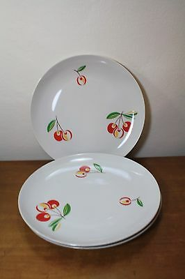 Harmony House Jubilee Cherry Set of 3 Dinner Plates 10 1/4""