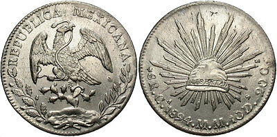 MEXICO: 1894 CA MM 8 Reales #WC69523