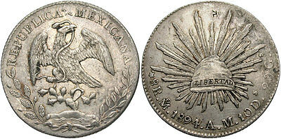 MEXICO: 1894 MA AM 8 Reales #WC69423