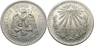MEXICO: 1920-M 1 Peso #WC69943