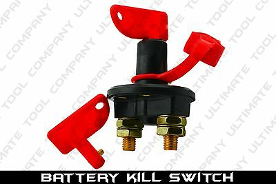 (1) Kill Switch Battery Power Boat SUV Cut Off 12 VOLT Anti Theft With 2 Keys