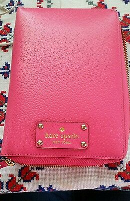 Kate Spade 2016 Planner Wellesley Cabaret Pink Leather Calendar Agenda