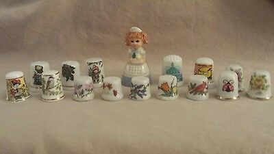 Lot of 16 Assorted Collector Thimbles