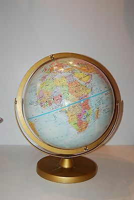 Replogle World Nation Series 12 Inch Raised Relief Globe Metal Base Euc
