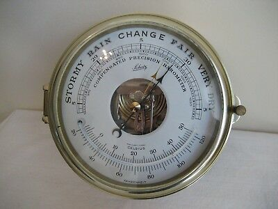 Vintage Schatz Compensated Precision  Barometer With Thermometer West Germany