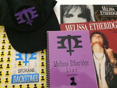 Melissa Etheridge Collectible Lot- Rare 1995 Tour Itinerary, Hat, Backstage