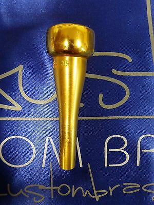 ACB mouthpiece BLOWOUT sale: ACB 3B trumpet mouthpiece modern in GOLD! - lot 385