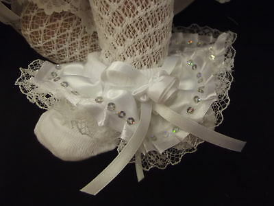 Dream Girls Romany Ribbon Sequin Frilly Socks All Sizes Available