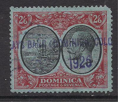 DOMINICA  1923-33  2s6d  black & red on blue  SG85  FU