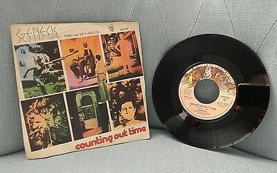 Disco 45 Genesis ‎– Counting Out Time / Riding The Scree Italy 1974  Charisma
