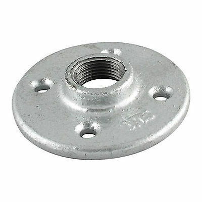 """1-1/2"""" GALVANIZED MALLEABLE IRON FLOOR FLANGE fitting pipe npt - LOT OF 5"""