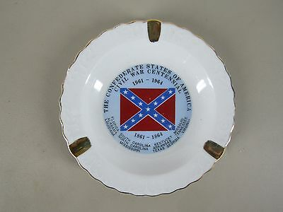 Vintage ashtray The Confederate States of America Civil War Centennial