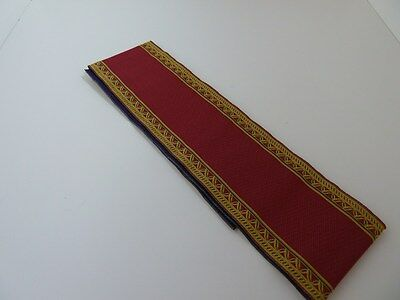 Dolls House Miniature 1:12th Scale Stair Red & 'Gold' Edged Stair Carpet (6663)