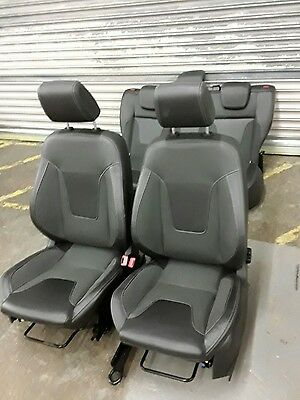 Ford Fiesta Mk9 5 Door Half Leather Interior Front And Rear Seats