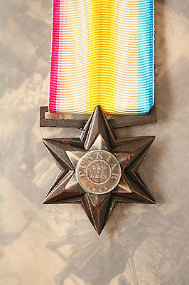Gwalior Star Medal Punniar Campaign British And Heic Military Troops Forces