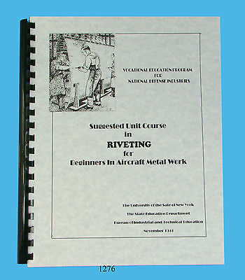 Suggested Unit Course In Riveting #1276