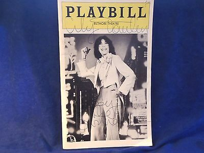 """Vtg Autographed Lily Tomlin Playbill Biltmore May 27, 1977 """"Appearing Nitely"""""""