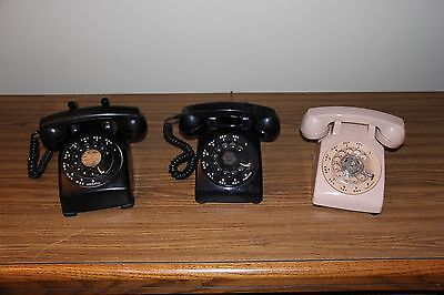 3 Pc. Lot Western Electric Leich Rotary Telephones
