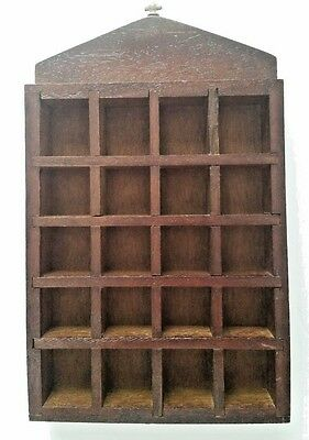 Wooden Thimble Display Shelf Holds 20 Thimbles - Wall Hanging.