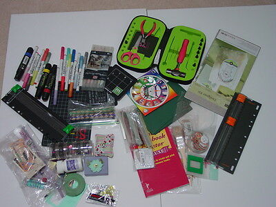 Huge lot of scrapbooking and card making tools, markers and more